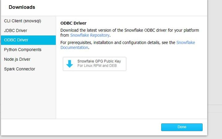Is the windows ODBC driver download down?? I only see a GPG