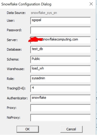 Informatica connection is only listing the tables under