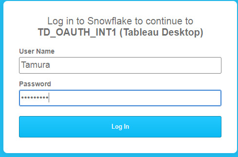 I am trying to connect to snowflake with AOuth authentication, but I