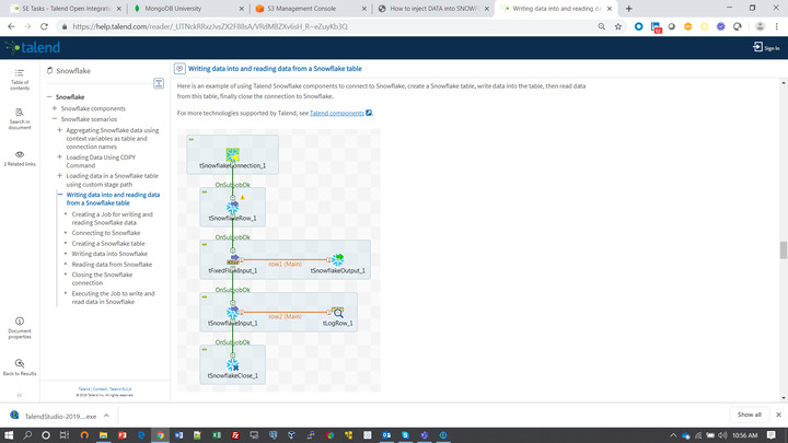 How to inject DATA into SNOWFLAKE Free TRIAL from a TALEND